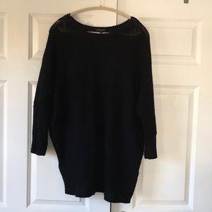 Eileen Fisher soft black oversized sweater